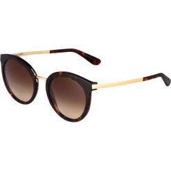 Dolce&Gabbana Okulary przeciwsłoneczne brown. Brązowe okulary przeciwsłoneczne damskie lenonki marki Dolce&Gabbana. Za 839,00 zł.