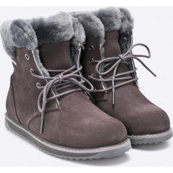 Emu Australia - Botki Shoreline Lo. Szare buty zimowe damskie marki EMU Australia, z materiału, na wysokim obcasie, na obcasie. W wyprzedaży za 429,90 zł.