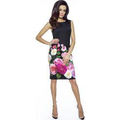 Czarna Sukienka Prosta Elegancka bez Rękawów z Różami. Czerwone sukienki balowe marki Molly.pl, l, z jeansu, z dekoltem na plecach, z długim rękawem. Za 209,90 zł.