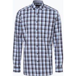 Andrew James - Koszula męska niewymagająca prasowania, niebieski. Niebieskie koszule męskie na spinki Andrew James, m, z bawełny, z klasycznym kołnierzykiem. Za 179,95 zł.