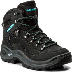 Trekkingi LOWA - Renegade Gtx Mid Ws GORE-TEX 320945 Anthrazit/Turkis. Szare buty trekkingowe damskie Lowa. W wyprzedaży za 729,00 zł.