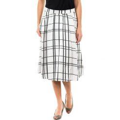 Spódniczki: Spódnica w kolorze jasnoszaro-czarnym