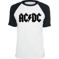 AC/DC Black Logo T-Shirt biały/czarny. Białe t-shirty męskie z nadrukiem AC/DC, l, z okrągłym kołnierzem. Za 79,90 zł.
