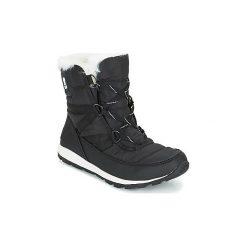 Śniegowce Sorel  WHITNEY SHORT LACE. Czarne buty zimowe damskie Sorel. Za 529,99 zł.