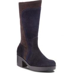 Kozaki GABOR - 91.510.36 Blau Kombi. Niebieskie buty zimowe damskie Gabor, z materiału, na obcasie. Za 669,00 zł.