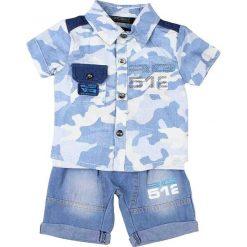 T-shirty chłopięce z nadrukiem: 3-częściowy zestaw w kolorze niebieskim