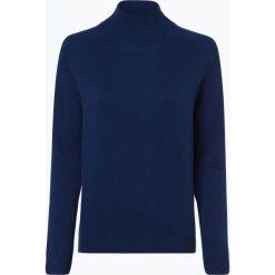 Marie Lund - Damski sweter z wełny merino, niebieski. Niebieskie swetry klasyczne damskie Marie Lund, s, z dzianiny. Za 249,95 zł.