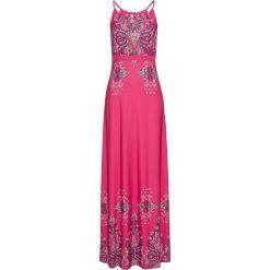Sukienki: Sukienka letnia bonprix jasnoróżowy wzorzysty
