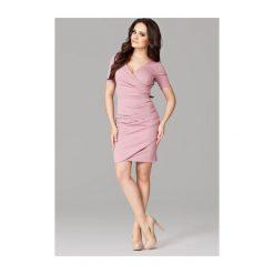 Sukienka Monaco M106 Różowa. Białe sukienki balowe marki NIFE. Za 99,00 zł.