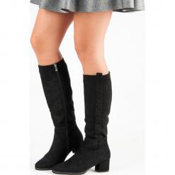 KLASYCZNE ZAMSZOWE KOZAKI. Czarne buty zimowe damskie FILIPPO, z zamszu. Za 181,00 zł.