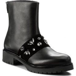 Botki GINO ROSSI - Donata DBH576-R78-E100-9900-F 99. Czarne buty zimowe damskie marki Gino Rossi, z materiału, na obcasie. W wyprzedaży za 299,00 zł.