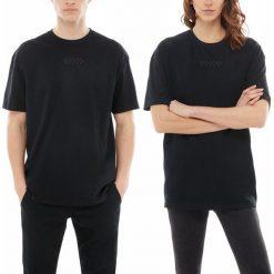 Koszulka Vans Overtime Out (VA3PDYBLK). Czarne bluzki asymetryczne Vans, z bawełny. Za 99,99 zł.