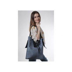 Torba blue  ribbon. Niebieskie torebki klasyczne damskie drops, z bawełny, małe, pikowane. Za 145,00 zł.