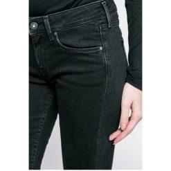 Pepe Jeans - Jeansy Lola. Czarne jeansy damskie rurki Pepe Jeans, z bawełny. W wyprzedaży za 299,90 zł.