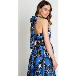Sukienki: Niebieska sukienka na ramiączkach BIALCON