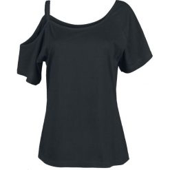 RED by EMP Soft Shoulder Koszulka damska czarny. Czarne bluzki z odkrytymi ramionami marki RED by EMP, l, z asymetrycznym kołnierzem. Za 66,90 zł.