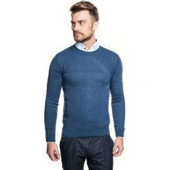 Sweter roger półgolf niebieski. Niebieskie swetry klasyczne męskie Recman, m, z golfem. Za 219,00 zł.