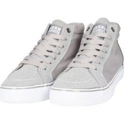 Urban Classics High Canvas Sneaker Buty sportowe szary/biały. Czarne buty skate męskie marki Urban Classics, z aplikacjami, z materiału. Za 79,90 zł.