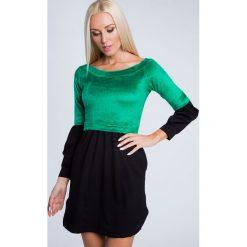 Sukienka odcinana z pluszu zielona 6563. Zielone sukienki Fasardi, l. Za 44,00 zł.