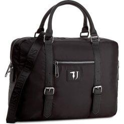 Torba na laptopa TRUSSARDI JEANS - Brooklin 71B00019 K299. Czarne plecaki męskie marki Trussardi Jeans, z jeansu. W wyprzedaży za 379,00 zł.