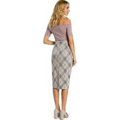 DESIRE Spódnica ołówkowa midi - model 1. Szare spódniczki ołówkowe Moe, z nadrukiem, z żakardem, biznesowe, midi. Za 109,99 zł.