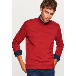 Gładka bluza Basic - Czerwony. Niebieskie bluzy męskie marki Reserved. Za 59,99 zł.