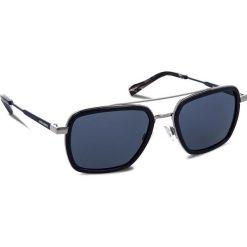 Okulary przeciwsłoneczne BOSS - 0306/S Blue PJP. Niebieskie okulary przeciwsłoneczne męskie aviatory Boss, z tworzywa sztucznego. W wyprzedaży za 459,00 zł.