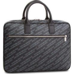 Torba na laptopa EMPORIO ARMANI - Y4P092 YLO7E 86526 Board/Black. Szare torby na laptopa marki Emporio Armani, l, z nadrukiem, z bawełny, z okrągłym kołnierzem. Za 899,00 zł.