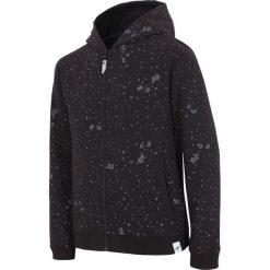 Bluza dla dużych chłopców JBLM201 - CZARNY. Czarne bluzy dziewczęce rozpinane marki 4F JUNIOR, na lato, z bawełny. Za 59,99 zł.