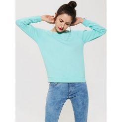 Bluzy damskie: Gładka bluza dresowa – Turkusowy