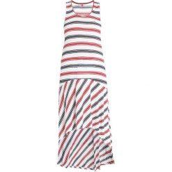 Tommy Jeans SUMMER STRIPE TANK DRESS Długa sukienka snow white multi. Białe długie sukienki marki Tommy Jeans, xs, z dżerseju, z długim rękawem. Za 349,00 zł.
