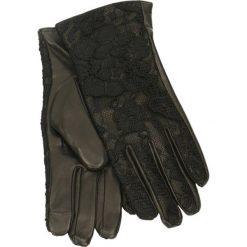Rękawiczki damskie. Czarne rękawiczki damskie marki Gino Rossi, z aplikacjami, z koronki. Za 139,90 zł.