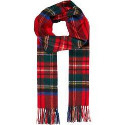 Johnstons Cashmere CHECK SCARF Szal royal stweart. Czerwone szaliki damskie Johnstons Cashmere, z kaszmiru. Za 959,00 zł.