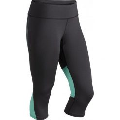 Bryczesy damskie: Marmot Spodnie Do Biegania Wm's Interval Capri Dark Steel/Ice Green S