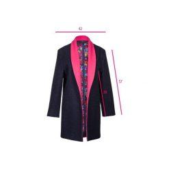 Granatowy płaszcz z wełny. Niebieskie płaszcze damskie wełniane marki Reserved. Za 1300,00 zł.