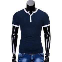 T-SHIRT MĘSKI BEZ NADRUKU S651 - CIEMNOGRANATOWY. Niebieskie t-shirty męskie z nadrukiem marki Ombre Clothing, m. Za 29,00 zł.