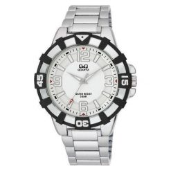 Biżuteria i zegarki męskie: Zegarek Q&Q Męski Q840-204 biały