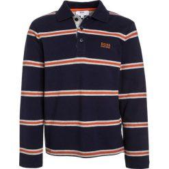 BOSS Kidswear LANGARM Koszulka polo marine/orange. Niebieskie bluzki dziewczęce bawełniane marki BOSS Kidswear. W wyprzedaży za 216,30 zł.