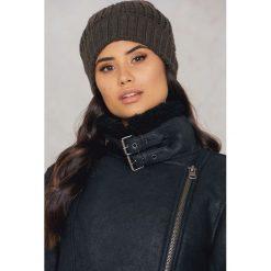 Rut&Circle Czapka Mira - Brown,Grey. Brązowe czapki zimowe damskie Rut&Circle, z dzianiny. W wyprzedaży za 26,48 zł.