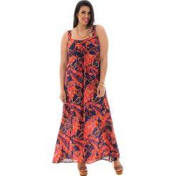 Sukienki: Sukienka w kolorze granatowo-czerwonym