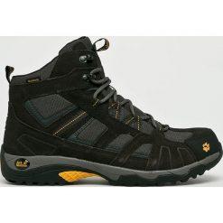 Jack Wolfskin - Buty Vojo Hike Mid Texapore Men. Czarne buty trekkingowe męskie Jack Wolfskin, z materiału, outdoorowe. W wyprzedaży za 379,90 zł.