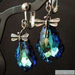 Biżuteria i zegarki: Klipsy kryształ Swarovsk Bermuda -ważki Andoma