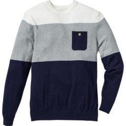 Swetry męskie: Sweter Regular Fit bonprix ciemnoniebieski w paski