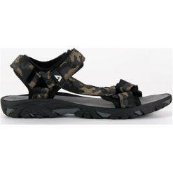 TEKSTYLNE SANDAŁY MĘSKIE AMERICAN - czarny. Czarne sandały męskie American CLUB. Za 89,90 zł.