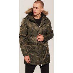 Płaszcz z kapturem - Khaki. Brązowe płaszcze na zamek męskie marki House, l. Za 299,99 zł.