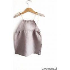 LEN sukienka szara. Szare sukienki dziewczęce Pakamera, ze lnu. Za 95,00 zł.