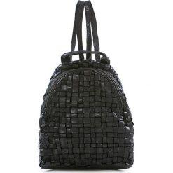 Plecaki damskie: Skórzany plecak w kolorze czarnym – 25 x 31 x 13 cm