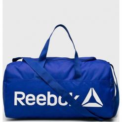 Reebok - Torba. Niebieskie torebki klasyczne damskie Reebok, w paski, z materiału. Za 119,90 zł.