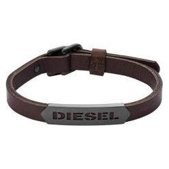 Diesel Męska Bransoletka Skóra dx1000060. Czarne bransoletki męskie Diesel. W wyprzedaży za 356,00 zł.