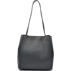 Torebki i plecaki damskie: Skórzana torebka w kolorze czarnym – (S)28 x (W)31 x (G)14 cm